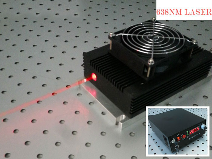 638nm 6 watt laser high power Red Semiconductor laser diode Cooling way TEC